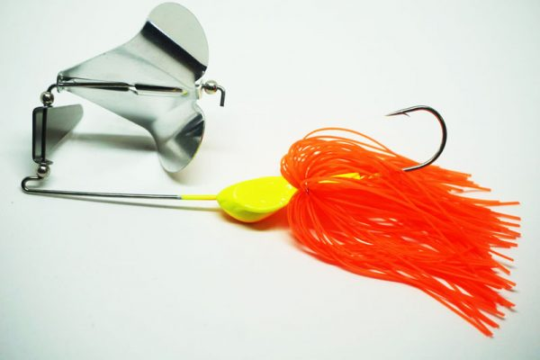 Orange Crushen'em Buzz Baits