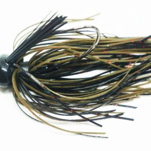 Pumpkin Black Football Jig